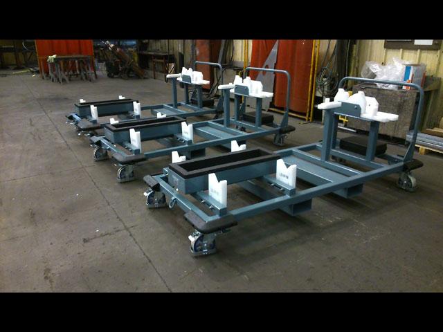 Chariot spécifique de transfert de poste à poste - industrie aéronautique - biens d'équipements - MECATLAS